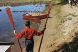 Boy Holding Oars Photographic Print by William Gottlieb