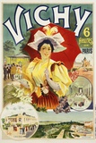 Vichy Poster Photographic Print