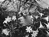 Woman Among White Lilies Photographic Print by Philip Gendreau