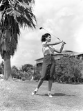 1930s Woman Golfer Miami Florida Usa Photographic Print