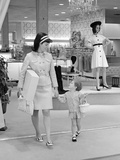 1960s-1970s Mother and Daughter Shopping in a Department Store Photographie