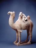 Tang Dynasty Sculpture of Camel and Rider Photographic Print