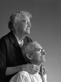 1960s Elderly Couple in their 80S Photographic Print