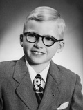 Eight Year Old School Boy Portrait, Ca. 1954 Photographic Print