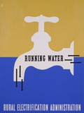 Running Water: Rural Electrification Administration Photographic Print by Lester Beall