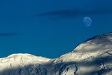 Mountain Ridge and Moon, Antarctic Peninsula Photographic Print by Paul Souders