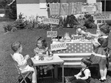 1950s Kids in Backyard Playing Store Photographic Print