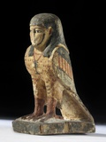 Egyptian Amulet with Human-Headed Bird Photographic Print