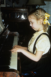 Little Blond Girl Playing Practicing the Piano Photographic Print by G. Knapp