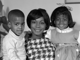 1960s African-American Mother with Her Children Photographic Print