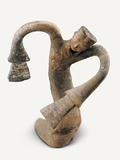 Han Dynasty Sculpture of Terracotta Dancer Photographic Print