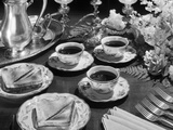 1930s-1940s 1950S Tea and Toast Formal Silver Setting Photographic Print