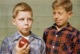 Boy Eying His Brother's Apple Photographic Print by William P. Gottlieb