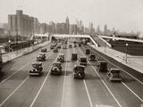 1930s Automobile Traffic Chicago Illinois Usa Photographic Print