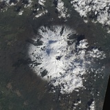 Satellite View of Mount Etna Photographic Print
