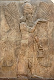Assyrian Relief of Winged Genie Photographic Print