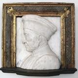 Portrait of Cosimo De Medici Fotografisk tryk af Andrea del Verrocchio