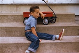 A Boy and His Wagon Photographic Print by William P. Gottlieb