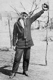 Teenage Boy Plays Catch, Ca. 1912 Photographic Print