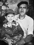 Father with His Young Son, Ca. 1949 Photographic Print