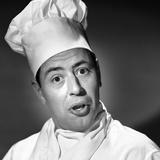 1950s Portrait Man Chef Humorous Expression Photographic Print