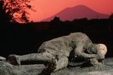 Cast of Pompeiian Victim of Mount Vesuvius Photographic Print by Roger Ressmeyer