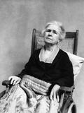 1930s Geriatric Sad Senior Old Woman in Wheelchair Crippled Photographic Print