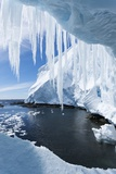 Ice Cave, Gerlache Strait, Antarctica Photographic Print by Paul Souders