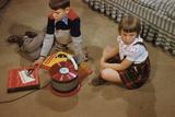Children Listening to Records Photographic Print by William Gottlieb