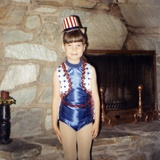 Young Girl in a Patriotic Dance Outfit Poses, Ca. 1967 Photographic Print
