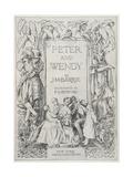 Peter and Wendy Book Cover Illustration Reproduction procédé giclée par Francis Donkin Bedford