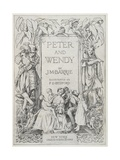Peter and Wendy Book Cover Illustration Lámina giclée por Francis Donkin Bedford