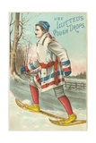 Use Lutted's Cough Drops Victorian Trading Card Advertisement Giclee Print