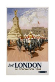 Visit London in Coronation Year Poster Giclee Print