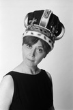 1970s Portrait Woman Wearing Queen's Crown Photographie