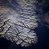 Coastline of Greenland from Space Photographie