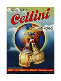Vini Tipici Cellini Wine Advertisement Poster Impression giclée