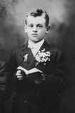 Portrait of a Young Boy in Church, Ca. 1930 Photographic Print