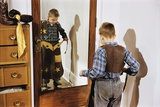 Boy Trying on Cowboy Duds Photographic Print by William P. Gottlieb
