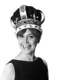 1970s Smiling Portrait Woman Wearing Queen's Crown Photographic Print