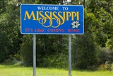 Welcome to Mississippi Sign Fotodruck von Paul Souders