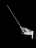 1950s Male Orchestra Conductor's Hand Holding Baton Photographic Print