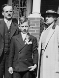 Young Boy with His Stern Looking Parents, Ca. 1935 Photographic Print