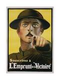 "L'Emprunt De La ""Victoire"" Recruitment Poster Giclee Print"
