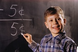 Boy Subtracting on a Blackboard Photographic Print by William P. Gottlieb
