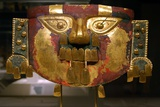 Lambayeque Gold Funerary Mask Photographic Print