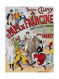 Le Papa De Francine Poster Giclee Print