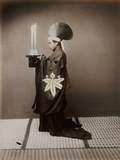 A Shinto Priest Offering Sake to the Kami Photographic Print