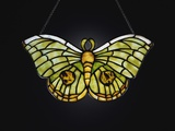 Tiffany Studios Butterfly Leaded Glass Lamp Pendant with Iridescent Favrile Glass Photographic Print