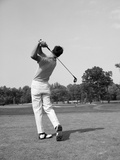 1970s Man Swing Golf Club Photographic Print